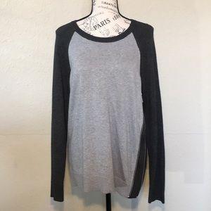 Michael Kors 2 tone gray sweater sz M